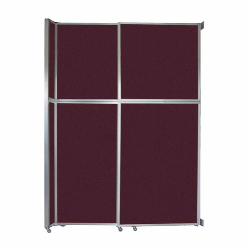 """Operable Wall Sliding Room Divider 6'10"""" x 10'3/4"""" Cranberry Fabric"""