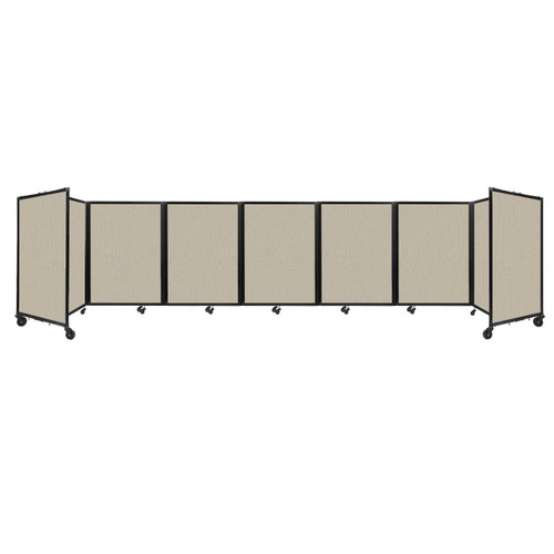 """Room Divider 360 Folding Portable Partition 19'6"""" x 4' Sand Fabric"""