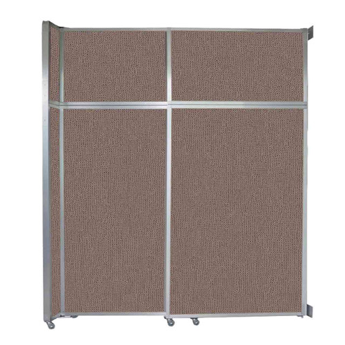 "Operable Wall Sliding Room Divider 6'10"" x 8'5-1/4"" Latte Fabric"