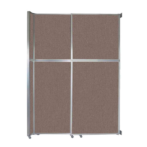 """Operable Wall Sliding Room Divider 6'10"""" x 10'3/4"""" Latte Fabric"""