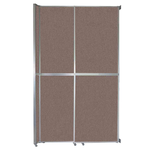 """Operable Wall Sliding Room Divider 6'10"""" x 12'3"""" Latte Fabric"""