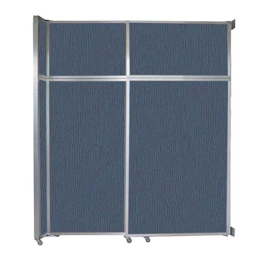 "Operable Wall Sliding Room Divider 6'10"" x 8'5-1/4"" Ocean Fabric"