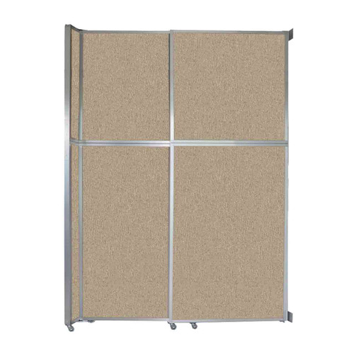 """Operable Wall Sliding Room Divider 6'10"""" x 10'3/4"""" Rye Fabric"""