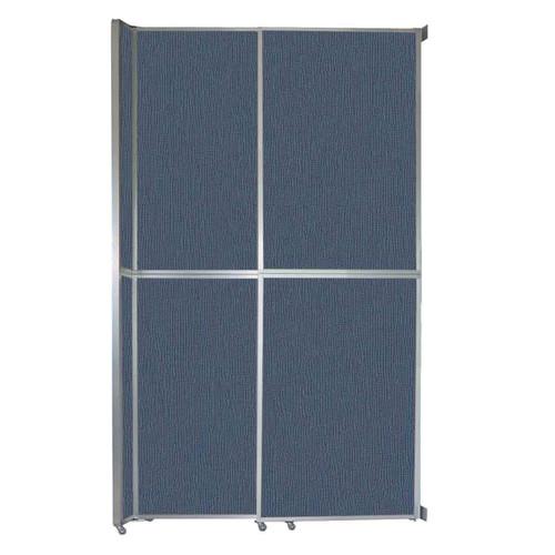 "Operable Wall Sliding Room Divider 6'10"" x 12'3"" Ocean Fabric"