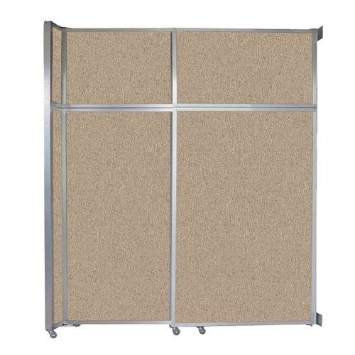 "Operable Wall Sliding Room Divider 6'10"" x 8'5-1/4"" Rye Fabric"