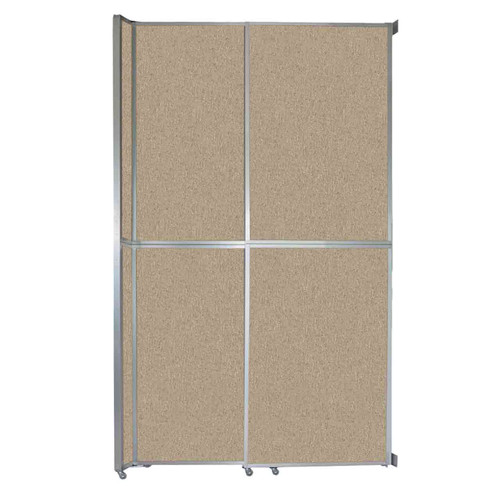 "Operable Wall Sliding Room Divider 6'10"" x 12'3"" Rye Fabric"