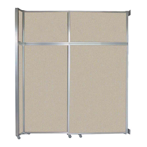 """Operable Wall Sliding Room Divider 6'10"""" x 8'5-1/4"""" Sand Fabric"""