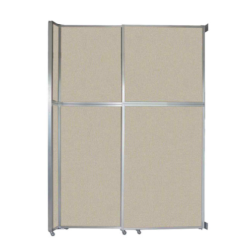 "Operable Wall Sliding Room Divider 6'10"" x 10'3/4"" Sand Fabric"