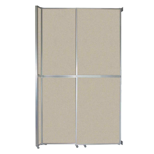 """Operable Wall Sliding Room Divider 6'10"""" x 12'3"""" Sand Fabric"""