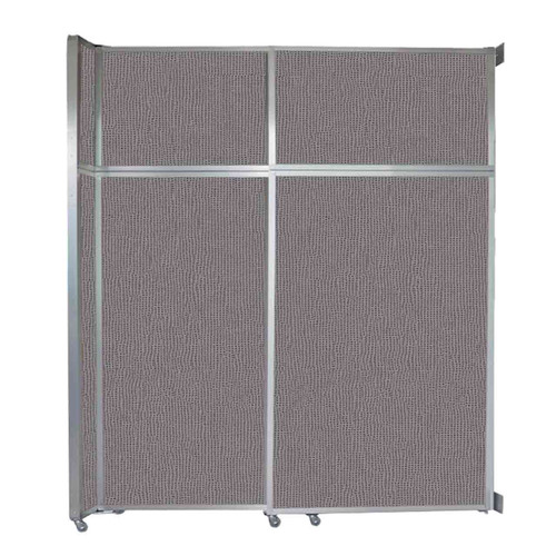 """Operable Wall Sliding Room Divider 6'10"""" x 8'5-1/4"""" Slate Fabric"""