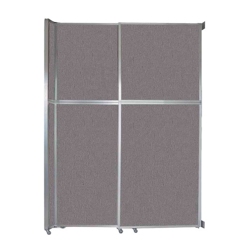 "Operable Wall Sliding Room Divider 6'10"" x 10'3/4"" Slate Fabric"