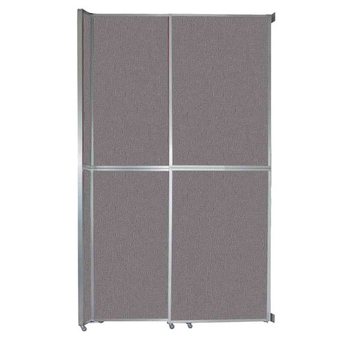 "Operable Wall Sliding Room Divider 6'10"" x 12'3"" Slate Fabric"
