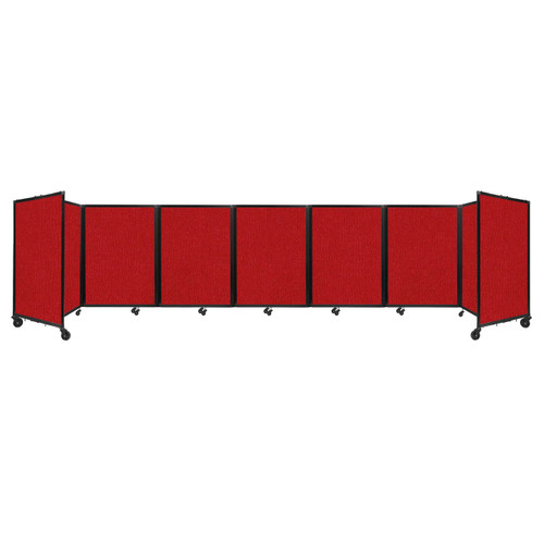 """Room Divider 360 Folding Portable Partition 19'6"""" x 4' Red Fabric"""