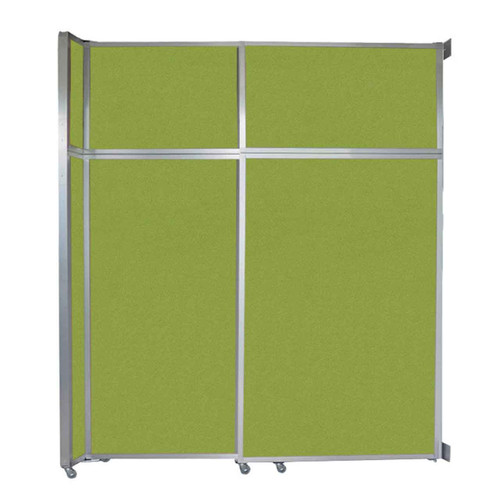 """Operable Wall Sliding Room Divider 6'10"""" x 8'5-1/4"""" Lime Green Fabric"""