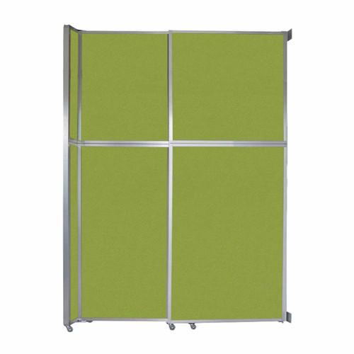 """Operable Wall Sliding Room Divider 6'10"""" x 10'3/4"""" Lime Green Fabric"""