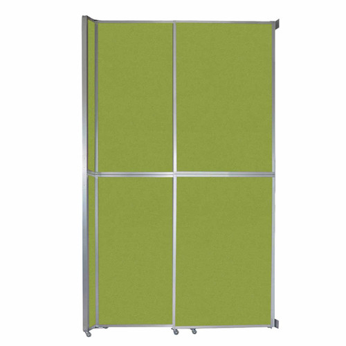 """Operable Wall Sliding Room Divider 6'10"""" x 12'3"""" Lime Green Fabric"""