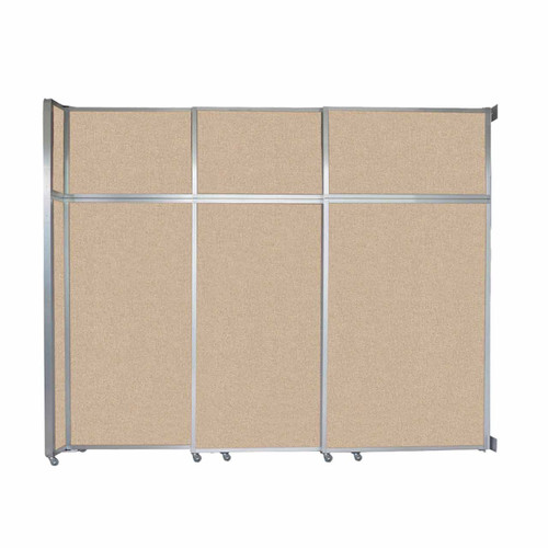 """Operable Wall Sliding Room Divider 9'9"""" x 8'5-1/4"""" Beige Fabric"""
