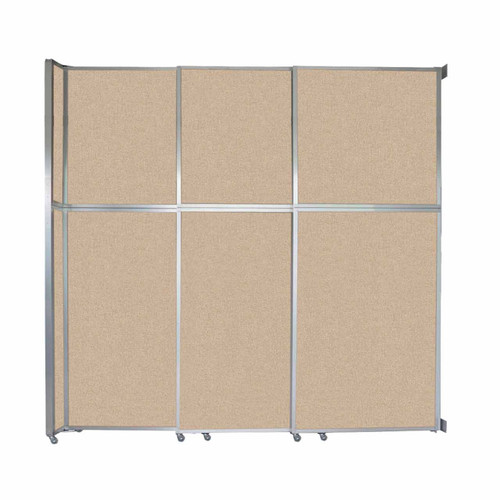 """Operable Wall Sliding Room Divider 9'9"""" x 10'3/4"""" Beige Fabric"""