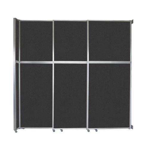 "Operable Wall Sliding Room Divider 9'9"" x 10'3/4"" Black Fabric"