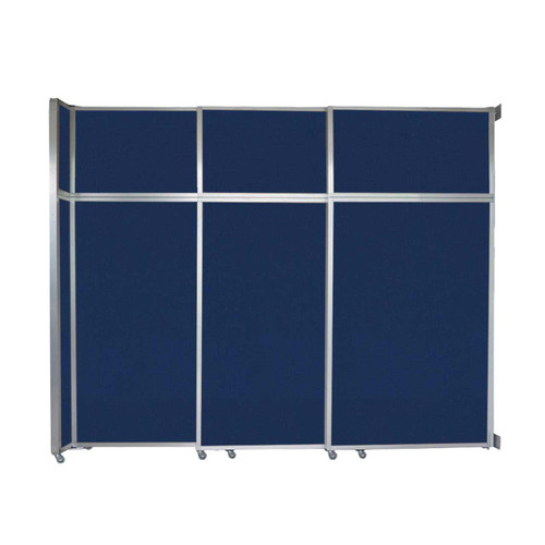 "Operable Wall Sliding Room Divider 9'9"" x 8'5-1/4"" Navy Blue Fabric"
