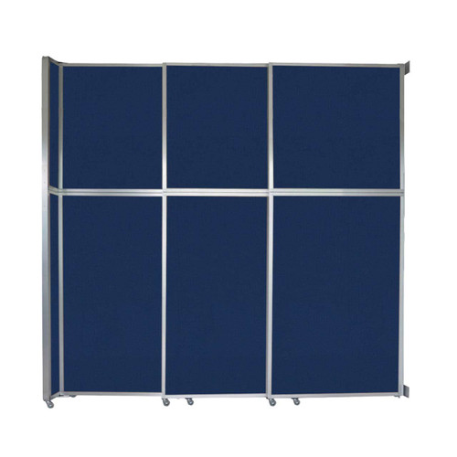 """Operable Wall Sliding Room Divider 9'9"""" x 10'3/4"""" Navy Blue Fabric"""
