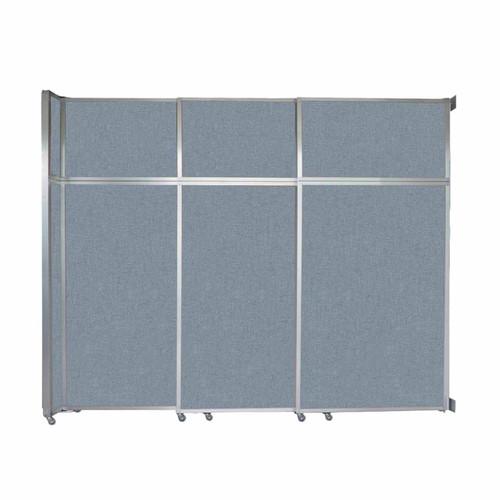 "Operable Wall Sliding Room Divider 9'9"" x 8'5-1/4"" Powder Blue Fabric"