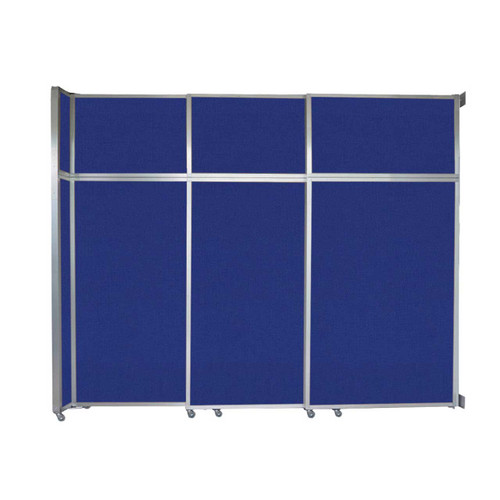 "Operable Wall Sliding Room Divider 9'9"" x 8'5-1/4"" Royal Blue Fabric"