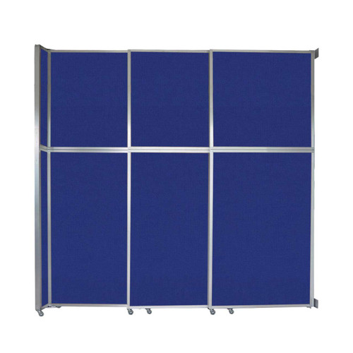 "Operable Wall Sliding Room Divider 9'9"" x 10'3/4"" Royal Blue Fabric"