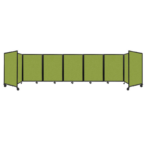 """Room Divider 360 Folding Portable Partition 19'6"""" x 4' Lime Green Fabric"""
