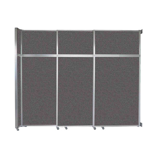 "Operable Wall Sliding Room Divider 9'9"" x 8'5-1/4"" Charcoal Gray Fabric"
