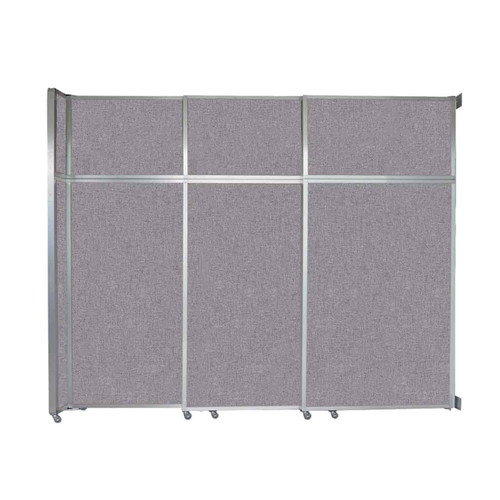 "Operable Wall Sliding Room Divider 9'9"" x 8'5-1/4"" Cloud Gray Fabric"