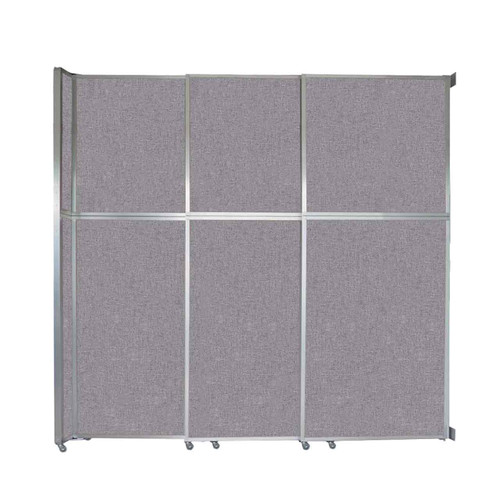 """Operable Wall Sliding Room Divider 9'9"""" x 10'3/4"""" Cloud Gray Fabric"""