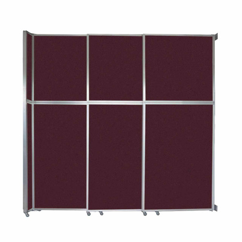"""Operable Wall Sliding Room Divider 9'9"""" x 10'3/4"""" Cranberry Fabric"""