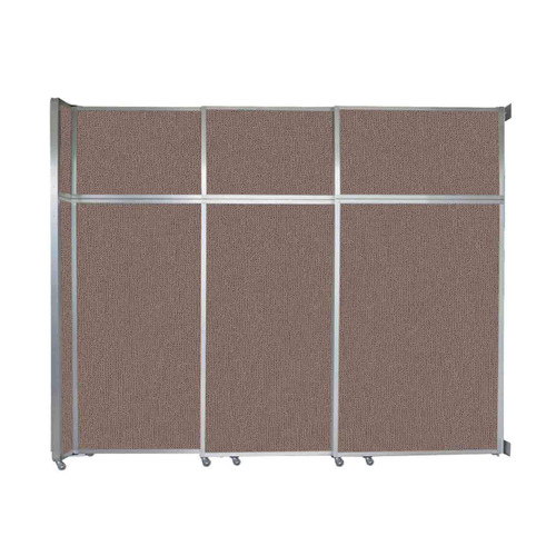 """Operable Wall Sliding Room Divider 9'9"""" x 8'5-1/4"""" Latte Fabric"""