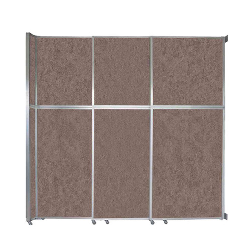 """Operable Wall Sliding Room Divider 9'9"""" x 10'3/4"""" Latte Fabric"""