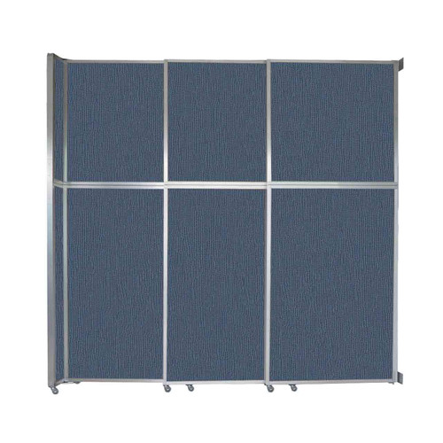 "Operable Wall Sliding Room Divider 9'9"" x 10'3/4"" Ocean Fabric"