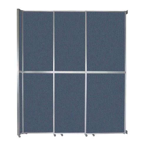 "Operable Wall Sliding Room Divider 9'9"" x 12'3"" Ocean Fabric"