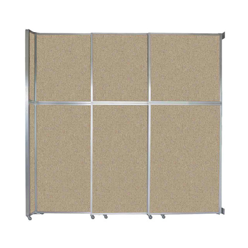 """Operable Wall Sliding Room Divider 9'9"""" x 10'3/4"""" Rye Fabric"""