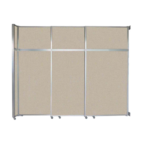 """Operable Wall Sliding Room Divider 9'9"""" x 8'5-1/4"""" Sand Fabric"""
