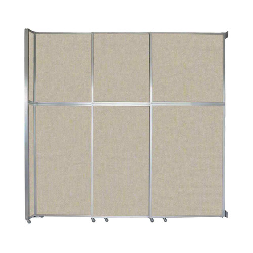 """Operable Wall Sliding Room Divider 9'9"""" x 10'3/4"""" Sand Fabric"""