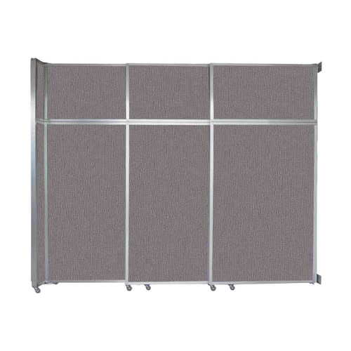 """Operable Wall Sliding Room Divider 9'9"""" x 8'5-1/4"""" Slate Fabric"""