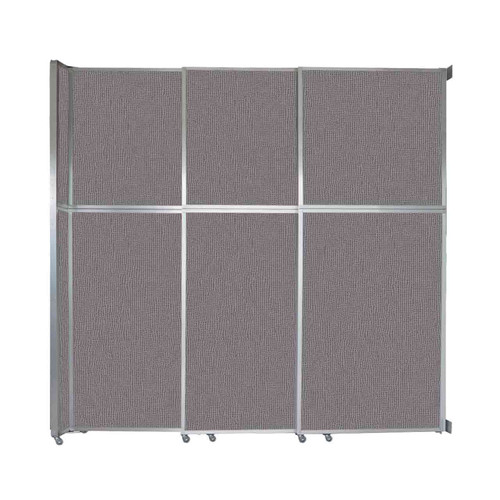 """Operable Wall Sliding Room Divider 9'9"""" x 10'3/4"""" Slate Fabric"""
