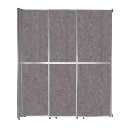 "Operable Wall Sliding Room Divider 9'9"" x 12'3"" Slate Fabric"
