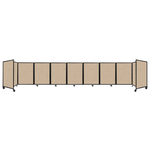 Room Divider 360 Folding Portable Partition 25' x 4' Beige Fabric