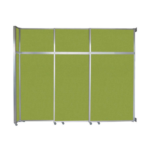"""Operable Wall Sliding Room Divider 9'9"""" x 8'5-1/4"""" Lime Green Fabric"""