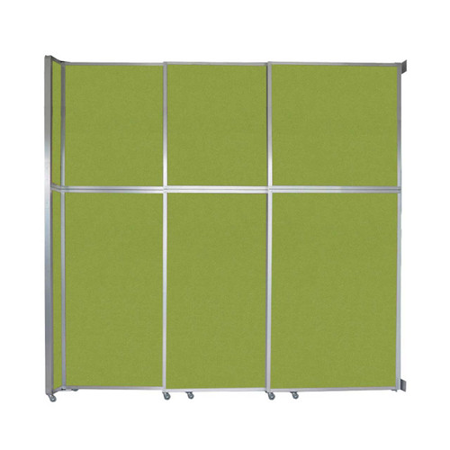 "Operable Wall Sliding Room Divider 9'9"" x 10'3/4"" Lime Green Fabric"