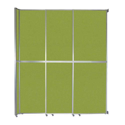 """Operable Wall Sliding Room Divider 9'9"""" x 12'3"""" Lime Green Fabric"""