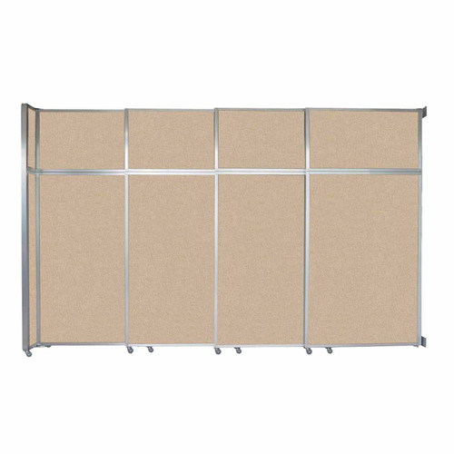 """Operable Wall Sliding Room Divider 12'8"""" x 8'5-1/4"""" Beige Fabric"""