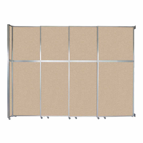 """Operable Wall Sliding Room Divider 12'8"""" x 10'3/4"""" Beige Fabric"""