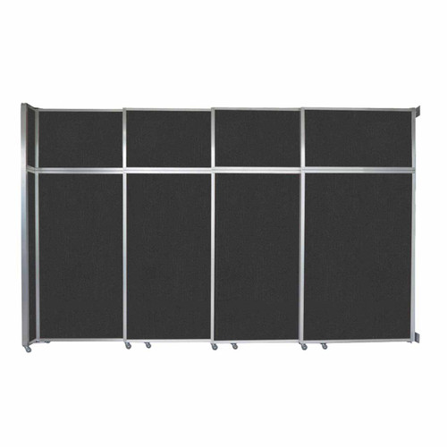 "Operable Wall Sliding Room Divider 12'8"" x 8'5-1/4"" Black Fabric"